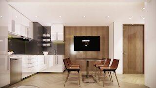 830sf 2bedroom 2bath Condo unit interior design