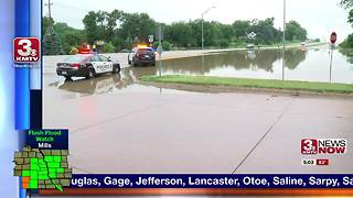 Morning rain causes flooding in Elkhorn