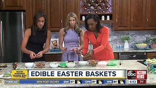 Edible Easter Baskets with Shay