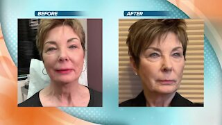 Watch and learn how Sally Hayes shows applies permanent makeup to lips