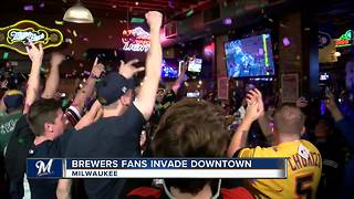 Hopeful Brewers fans cheer on playoff berth at official watch party