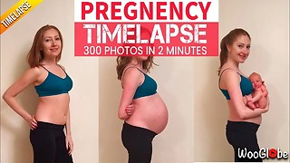Amazing Pregnancy Time Lapse : 9 Months in 2 mins