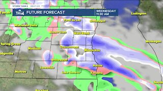 Chance of scattered snow showers forecasted for Wednesday