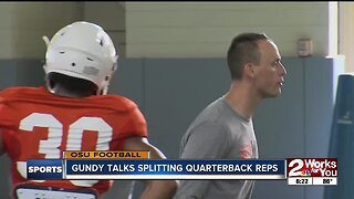 Gundy Talks Figuring Out Reps for QB's