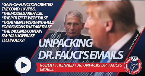 Robert F. Kennedy Jr. Unpacks Dr. Fauci's 3,234 Emails   Fauci Lied. People Died.