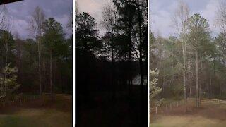Tornado warning in Georgia looks like a scene from a scary movie