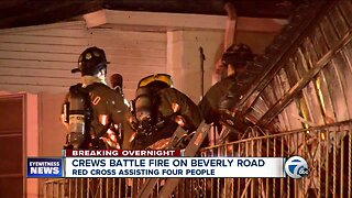Crews battle fire on Beverly Road in Buffalo