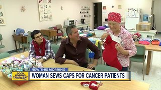 Seamstress comforts cancer patients at a Clearwater hospital as she battles ovarian cancer