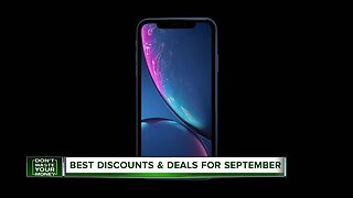 Don't Waste Your Money: Best Discounts & Deals for September