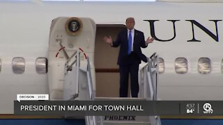 President Trump arrives in Miami for NBC town hall