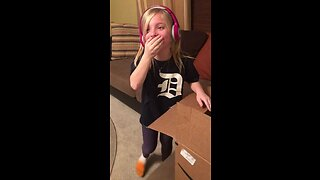Little girl can't hold back tears for surprise puppy