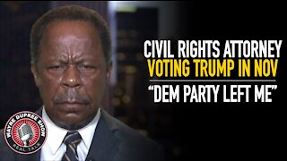 Civil Rights Attorney Says He's Backing Trump In Nov As Dem Party Left Him