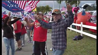 President Trump support rally in Stuart