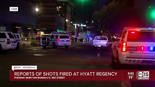 Shooting investigation at downtown Phoenix hotel