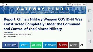 Chinese Military is Responsible for Covid 19...