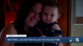 18-month-old girl, mother killed in St. Lucie County mobile home fire
