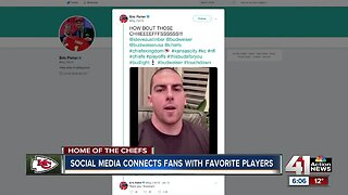 Social media connects fans with Chiefs players