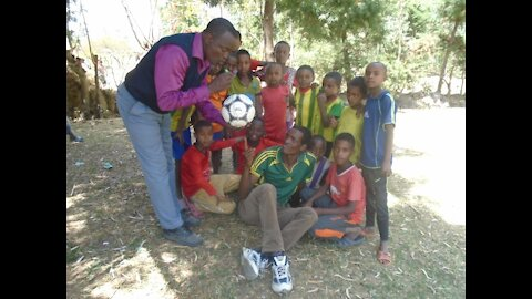Soccer Exhibition Gulu Uganda