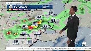 Metro Detroit Forecast: Chance for storms on Thursday