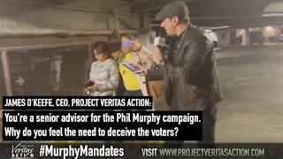 James O'Keefe Confronts NJ Gov Campaign Advisor Over Vaccine Mandates