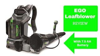 Ego back pack leaf blower 600cfm review video