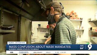Mass confusion about mask mandates