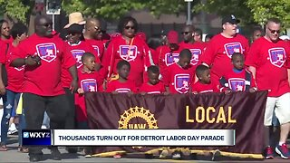 Thousands turn out for Detroit Labor Day parade