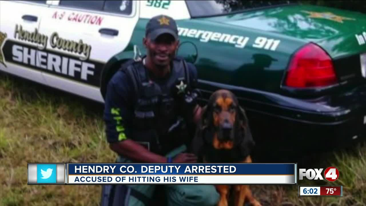 Hendry County deputy arrested for domestic violence