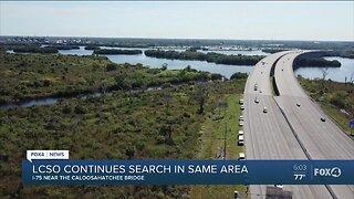 LCSO continues search along I-75 near Caloosahatchee Bridge