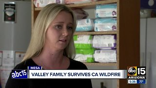 Valley family survives California wildfire