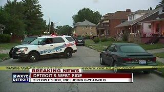 3 people shot, including a child, on Detroit's west side