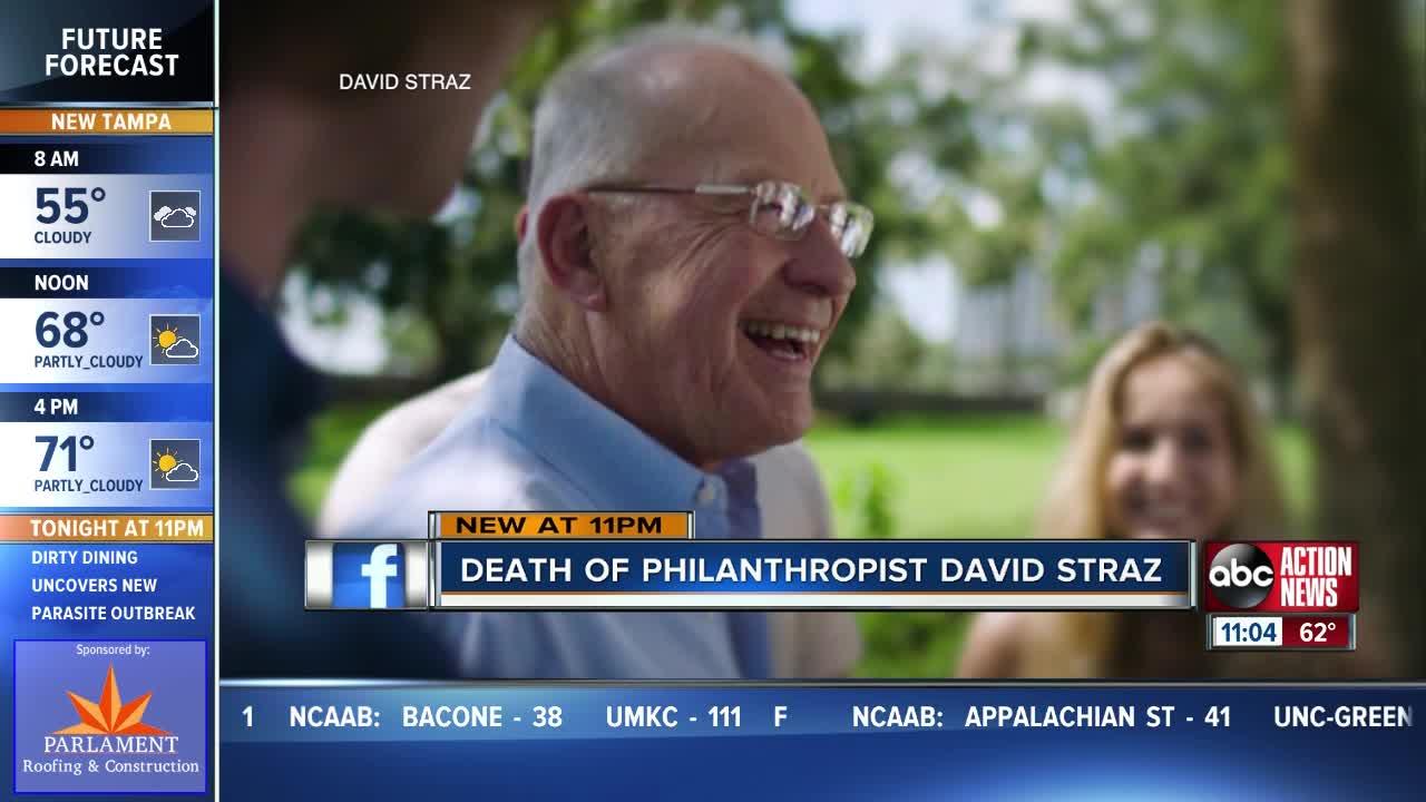 David Straz dies at 77