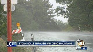 Storm rolls through San Diego mountains