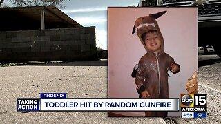 Child injured by random gunfire in Phoenix