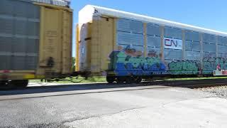 CSX Autorack Train from Bascom, Ohio August 30, 2020