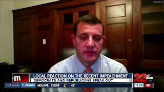 Local reaction on President Trumps second impeachment