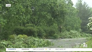 Damage after possible tornado in Baltimore County