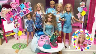 Barbie Happy Birthday Party with Ken Chelsea and Friends