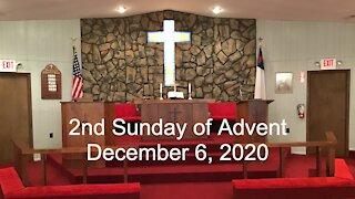 2nd Sunday of Advent Worship - December 6, 2020