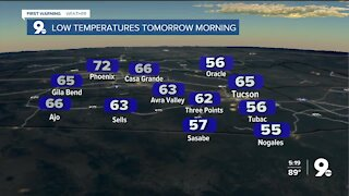 Temperatures climb as we head into the weekend