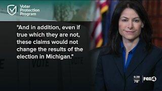 Michigan AG responds to Trump lawsuit