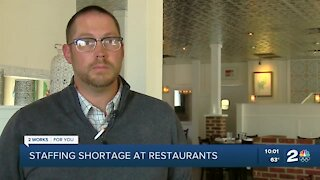 Restaurants face staffing shortages as they work to recover from pandemic