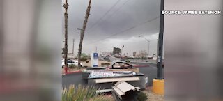 Fast moving storm leaves damage in Las Vegas