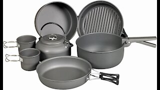 NDur 9 Piece Mess Kit with Kettle