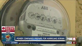 Power companies preparing for Hurricane Dorian