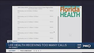 Lee Health: Stop calling about vaccine's
