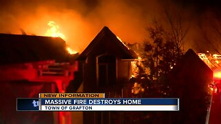 Massive fire destroys Grafton home