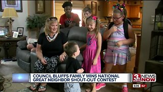 Council Bluffs family wins national Great Neighbor Shout-Out contest