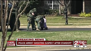 Police arrest Tulsa shooting suspect after standoff in Broken Arrow