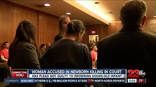 Woman accused in newborn killing appeared in court